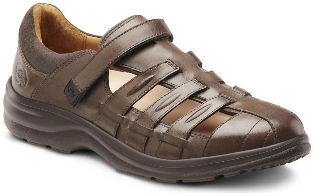 Dr. Comfort Women's Breeze Coffee Diabetic Fisherman Sandals