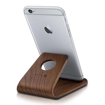 kalibri Soporte de Madera para móvil - Soporte Universal para Tablet Smartphone - Base Stand Holder