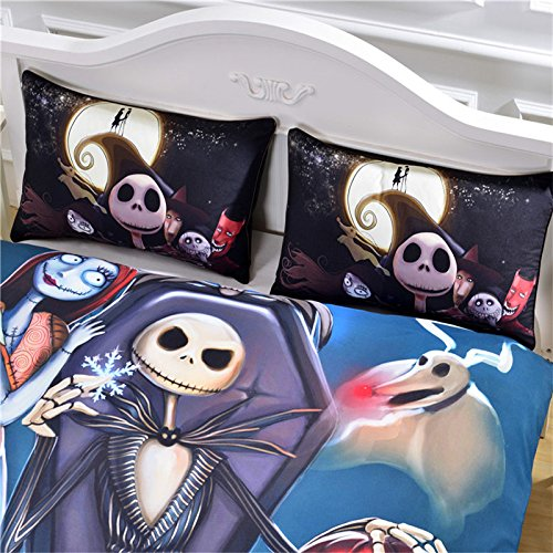 LightInTheBox Surprise Price Nightmare Before Christmas Bedding Gift Home Unique Design Duvet Cover & Pillowcases Set (Set of 3) (Twin)
