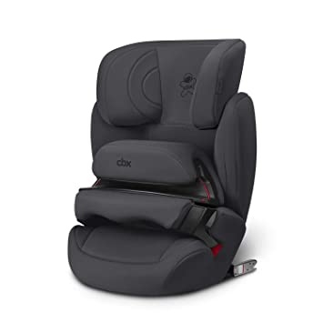 14de966417742d cbx Kinder-Autositz Aura-Fix, Gruppe 1/2/3 (9-36 kg), Ab ca. 9 Monate bis  ca. 12 Jahre, Für Autos mit und ohne ISOFIX, Comfy Grey