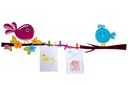 Kaasht Kids Bird Wall Art Memo Display Hanger