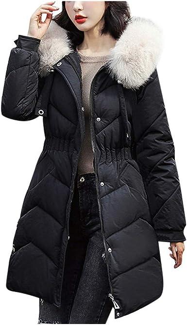 Womens Thicken Hooded Warm Coat Jacket Trench Outwear Winter Parka Overcoat US