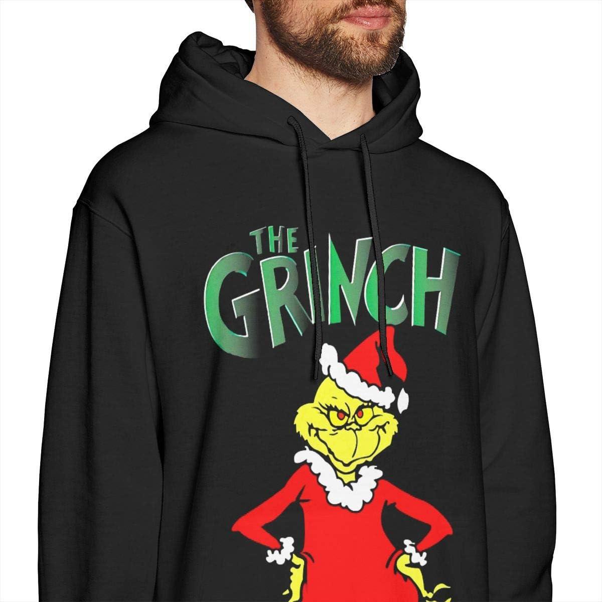 Others The Grinch Mens Long Sleeve Sport Hoodie Pullover Casual Printed Sweatshirt