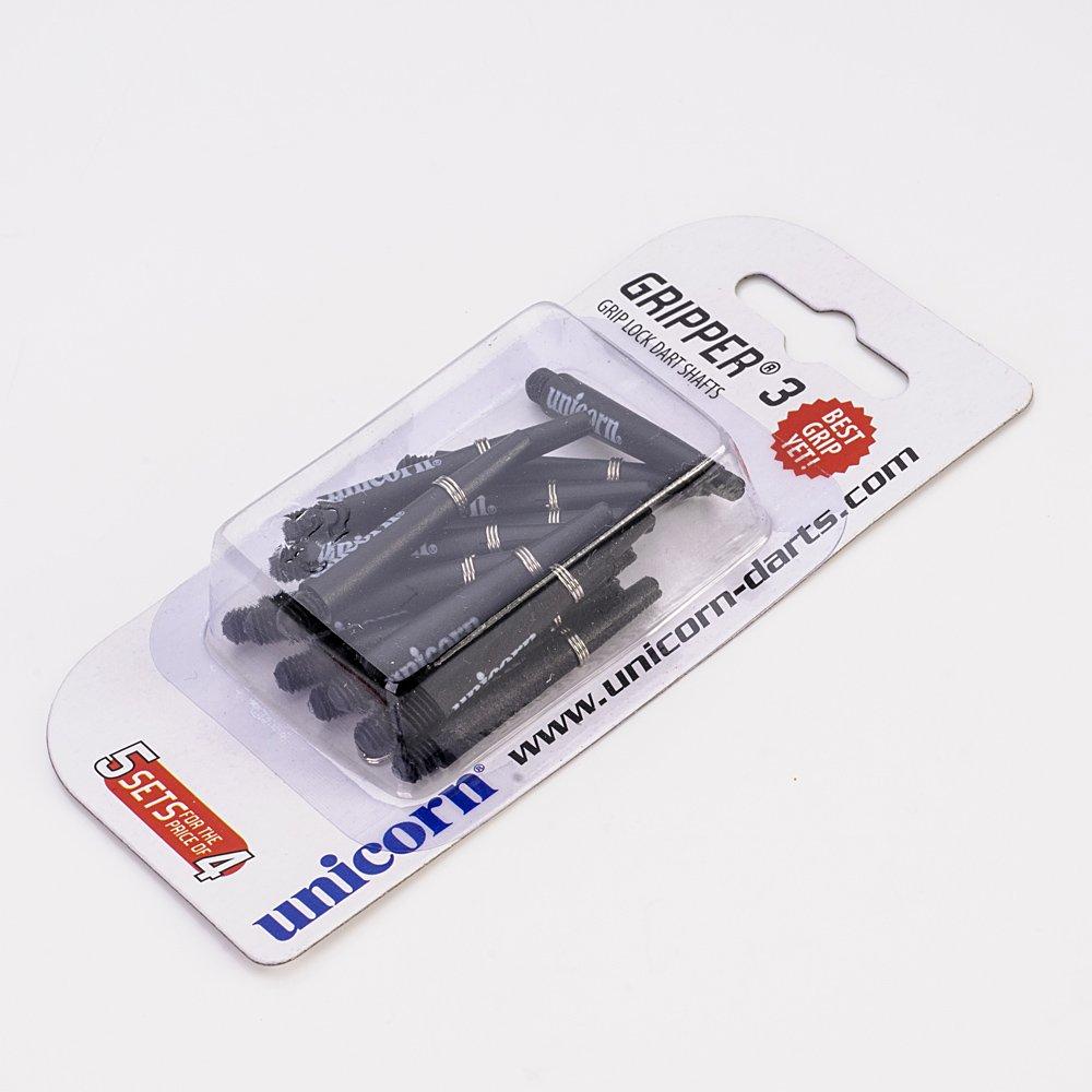 5 Set Multipack Unicorn Gripper 3 Short Black Dart Stems Shafts