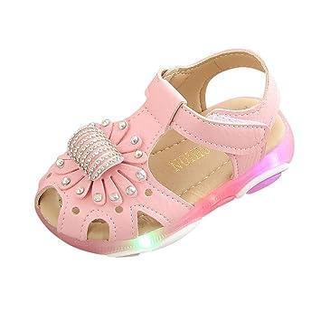03ce1433fff6e Amazon.com: Cloudro Children Girls LED Closed Toe Beach Sandals ...