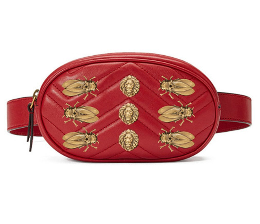 XUEERBAO Women Waist Fanny Packs Belt Bag Leather Chest Handbag NEW Fashion Red B