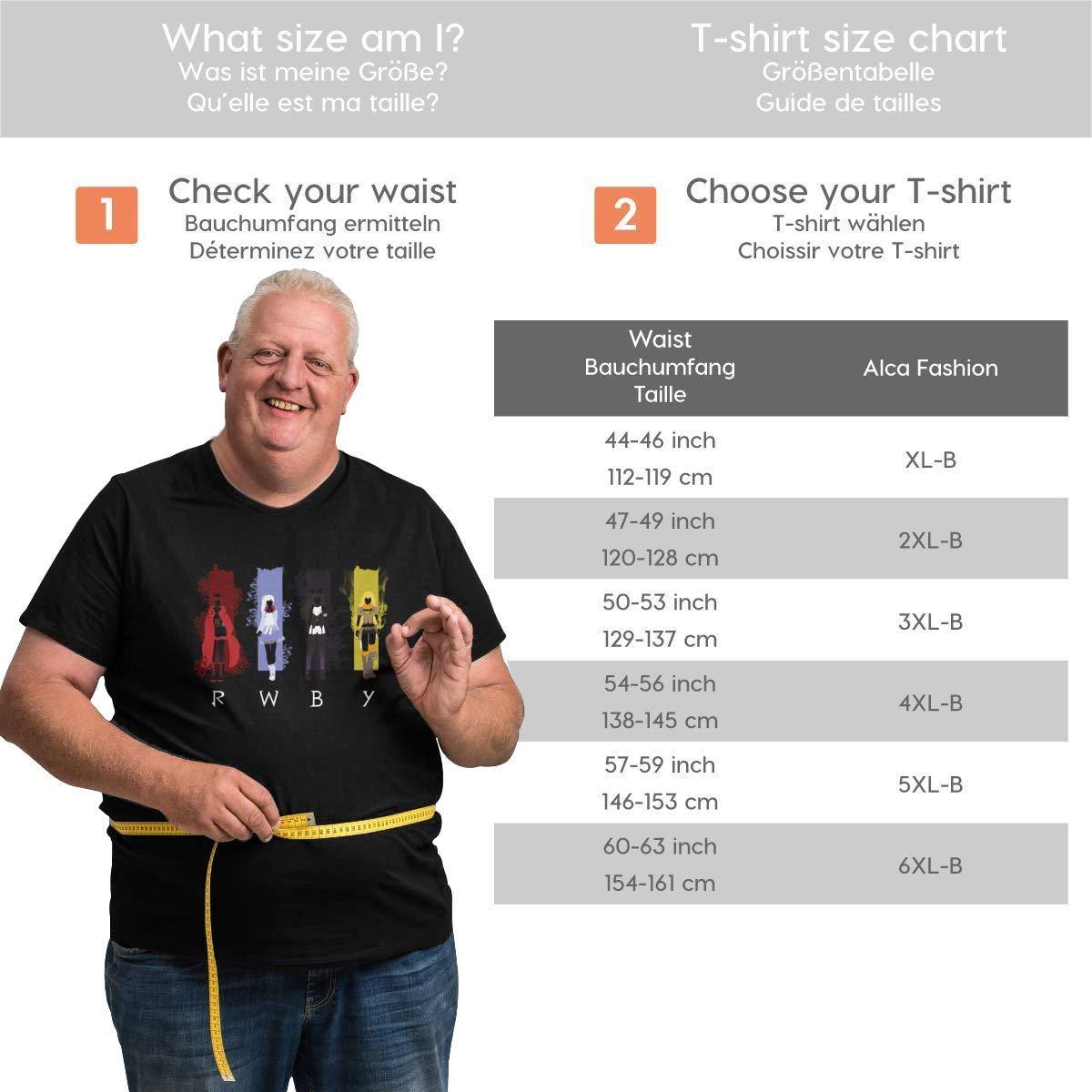 TicTicTok RWBY 4 Mens Big Size T-Shirts Black