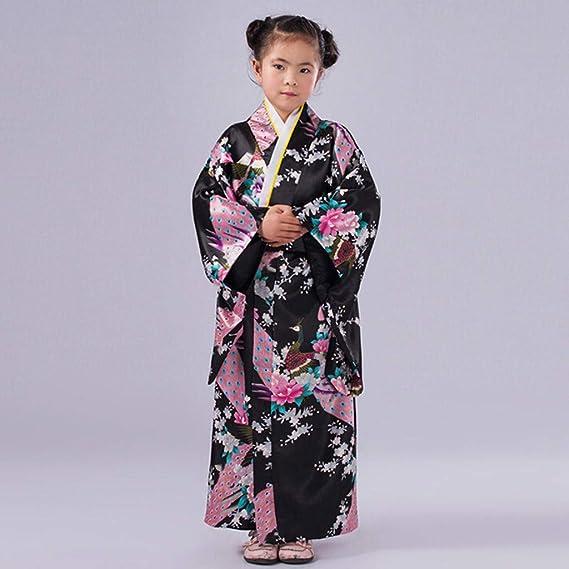 Amazon.com: Disfraz de kimono para niña, disfraz de kimono ...