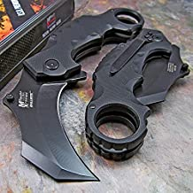 Master Cutlery MX-A815BK 5-Inch Karambit Folder, 2.5-Inch Black Blade, Black G10 Handle with Clip