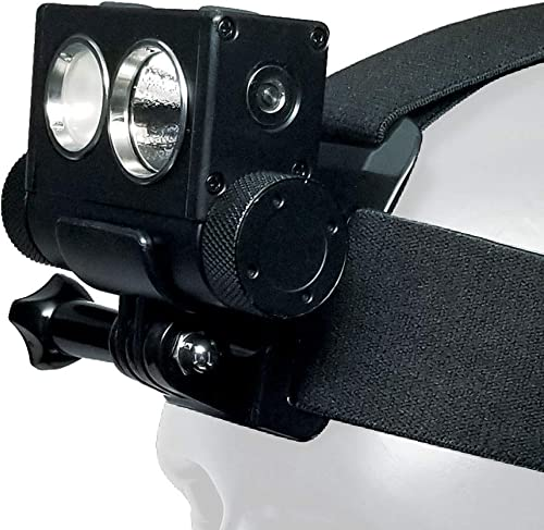 PowerTac Hl-10 Explorer Headlamp – Multi-Use Rechargeable Headlamp System, Black