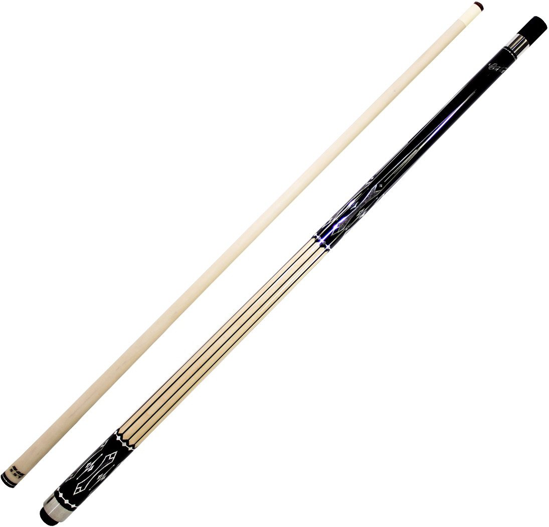 Cuetec Natural Series 58'' 2-Piece Canadian Maple Billiard/Pool Cue, Unwrapped, Black Stripes