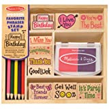 Melissa and Doug Favorite Phrases Stamp Set, Multi, Girls