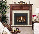 Geneva Flush Fireplace Mantel in Mahogany Finish (Custom Cherry 40 in. x 48 in.)