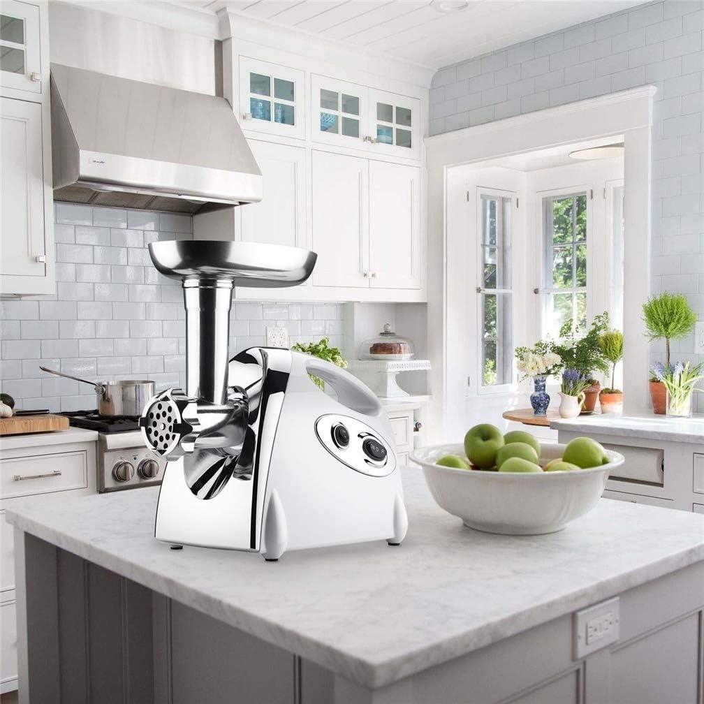 GJ688 Picadora de Carne eléctrica y máquina de Salchicha casera Potente Motor de Cobre Picadora de molienda de Alimentos con Accesorios para Cocina Comercial, B: Amazon.es