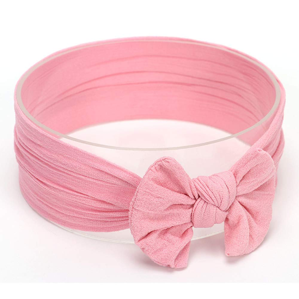 1Pcs Cute Bowknot Hair Band,Bloodfin Baby Toddler Infant Circle Headband Stretch Hairband Headwear Ultra Soft Bow Turban Hair Band for 6 Months to 3 Years Old Baby