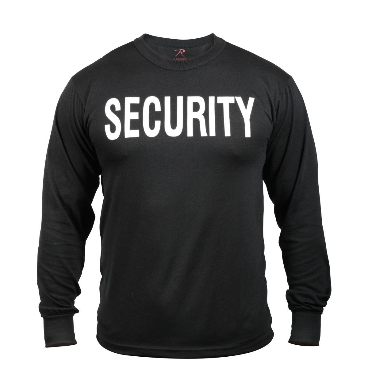 Rothco 2-Sided L/S T-Shirt/Security - Black/XX-Large