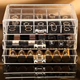 Choice Fun Acrylic Makeup Organizer Jewelry Storage Box with Dividers Transparent CA-QFJJSN-SF-1005-7