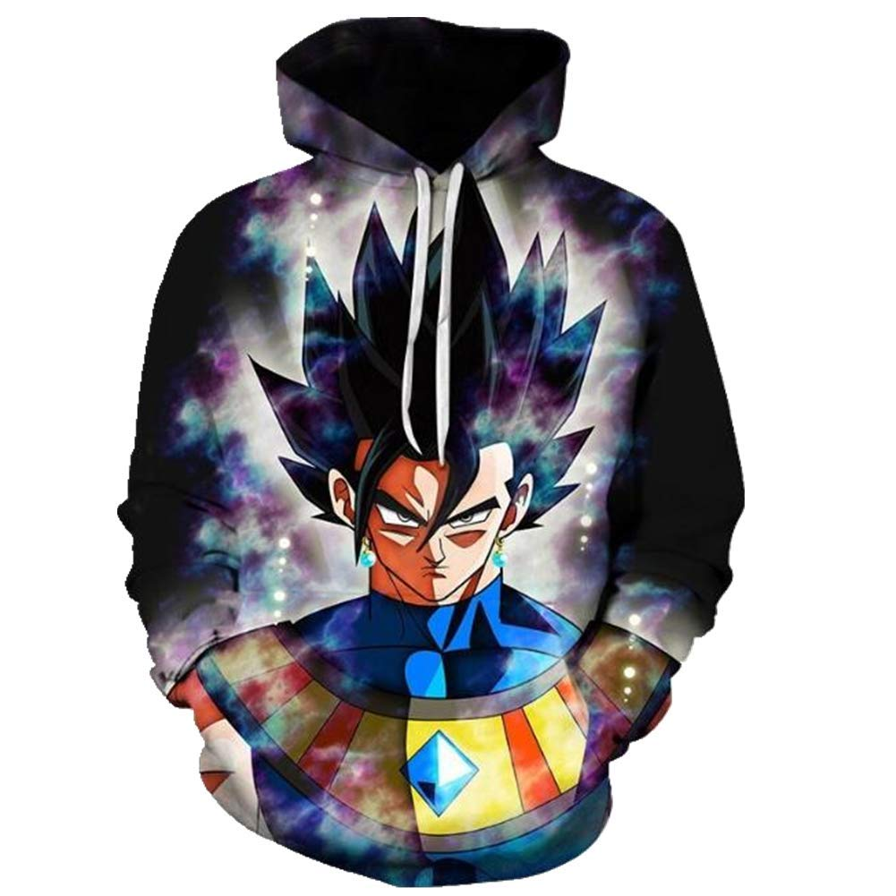 3D Anime Dragon Ball Fleece Unisex Hoodie Autumn Winter Wear Indoor Sports Sweater Coat