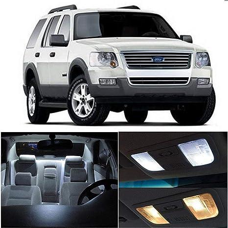 10pcs White LED Bulb Interior Package Lights Deal for Ford Explorer 1995-2001