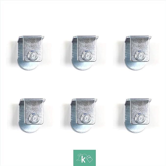 Dreaming Kamahaus Pack de Abrazaderas para somier | 4 Unidades | Apta para Patas con Tornillo de 10mm |Compatible con somier de 30x40 | Acero |