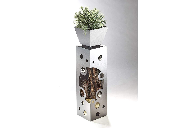 Prinidor Pflanzs/äule Dekos/äule Blumens/äule Innen und Aussen Edelstahl 82 cm