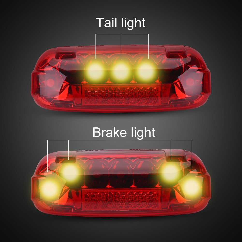 Electric Bicycle Rear Light 48V LED Brake Lamp Safety Warn Light for Scooters E-bikes VGEBY