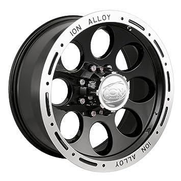 Amazon Com Ion Alloy 174 Black Wheel With Machined Lip 17x9