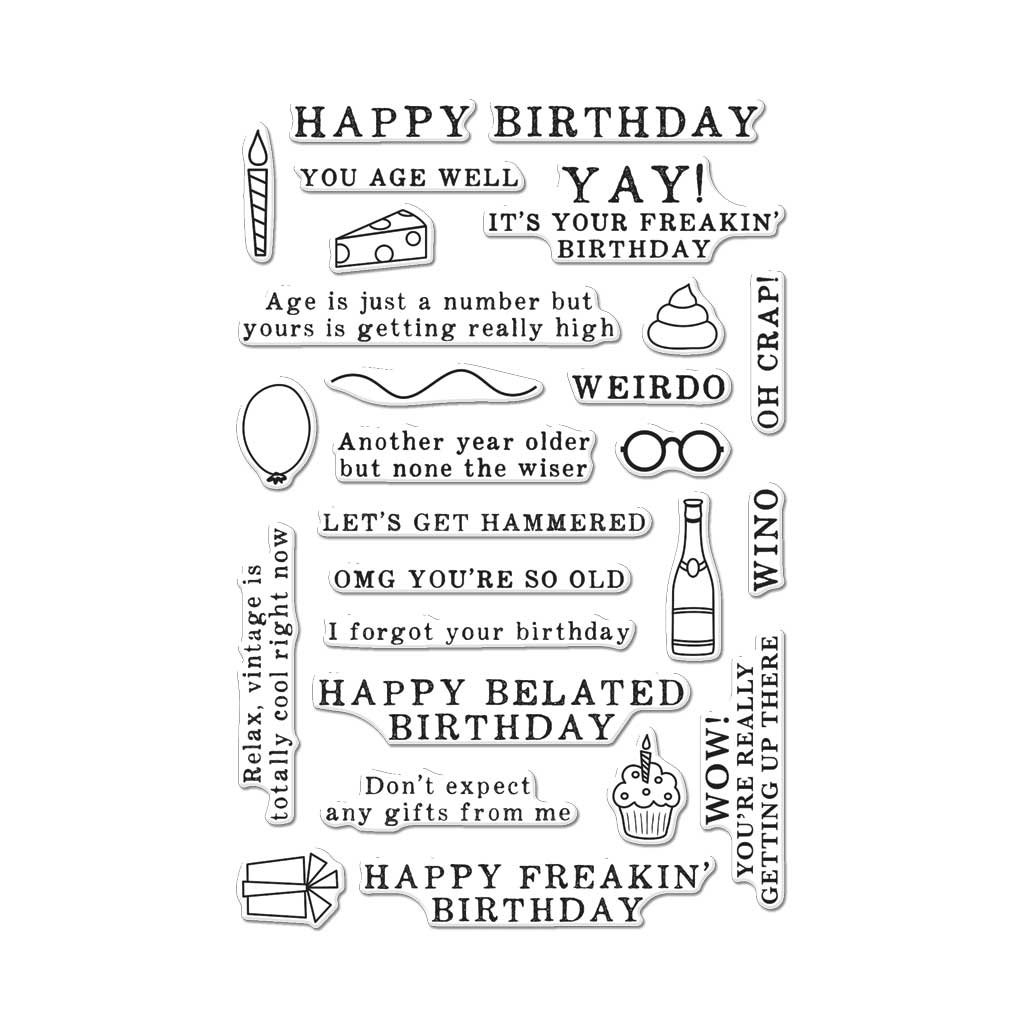 Hero Arts CM143 Irreverent Birthday Messages Photopolymer Stamps