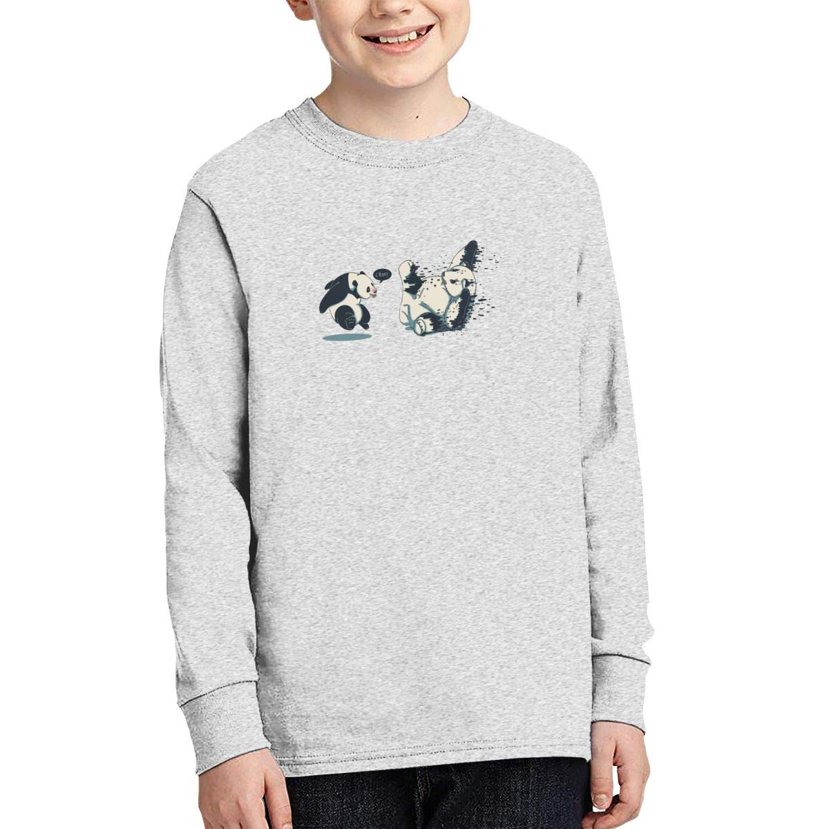 Onlybabycare Fighting Pandas Teen Boy Girl Athletic Pullover Sweatshirt Cute Shirt