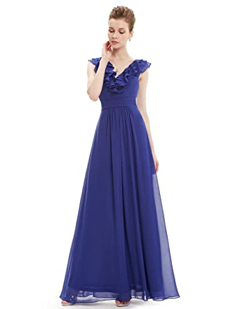 2f6fbbd2c77 Ever-Pretty Women s Chiffon Formal Dress Sapphire Blue Floor Length  Bridesmaid Dresses ...