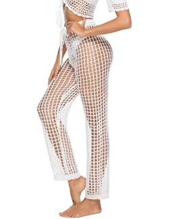 7e138c6a5dd2c Kistore Womens Crochet Net Hollow Out Beach Pants Sexy Swimsuit Cover Up  Pants