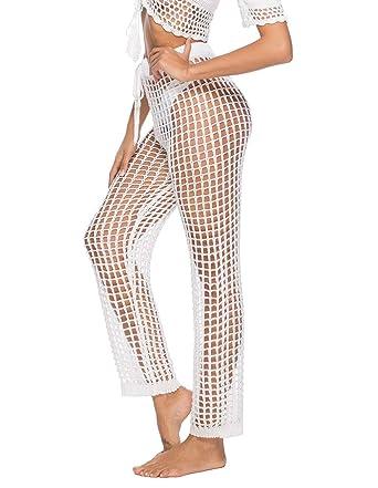 Kistore Womens Crochet Net Hollow Out Beach Pants Sexy Swimsuit