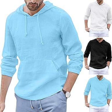 YGbuy-Camisa con Capucha De Manga Larga De Algodón Bolso De Mano ...