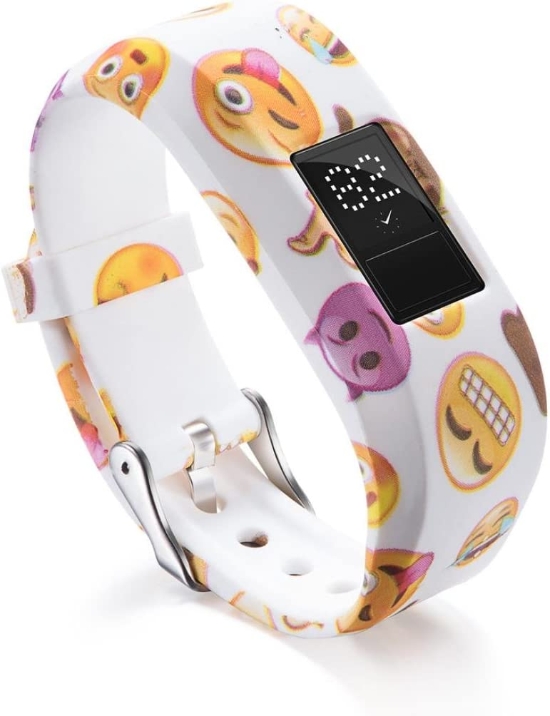 Bracelet de rechange en silicone souple /à motifs pour smartwatch Garmin Vivofit Jr 2