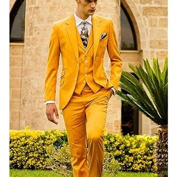 GFRBJK Moda Hombre Slim Fit Novio Vestido de Novia Esmoquin ...