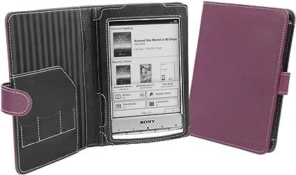 Cover-Up – Funda de Cuero para Sony Reader PRS-T1 (Estilo Libro ...