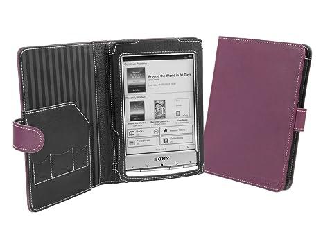 Cover-Up - Funda de Cuero para Sony Reader PRS-T1 (Estilo Libro ...