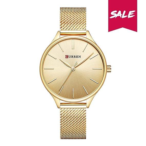 CURREN Reloj de cuarzo de las mujeres 35db0904c015