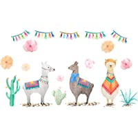 Alpaca Wall Decals Cute Animal Removable Stickers for Kids Nursery Bedroom and Party Decorations