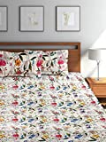 Bombay Dyeing Golden Moment Vale Cotton Double Bedsheet With 2 Pillow Covers- Lemon