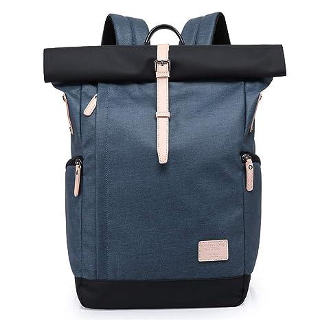 Sportrucksäcke Rucksack Damen Herren Roll Top Rucksack Laptop Schultasche Uni Wasserabweisend