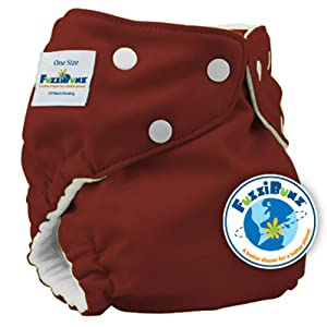 Image: FuzziBunz One Size Pocket Diaper | 2 microfiber inserts for superior absorbency | elastic in the legs and waist allow for endless customization | easy to stuff and will fit a multitude of inserts
