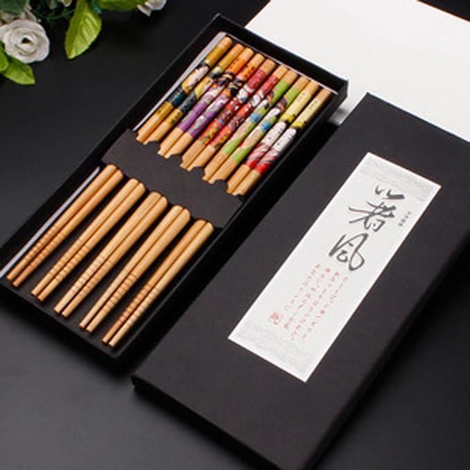 12 opinioni per KaLaiXing®, cinque paia di bacchette giapponesi decorate, 5 colori