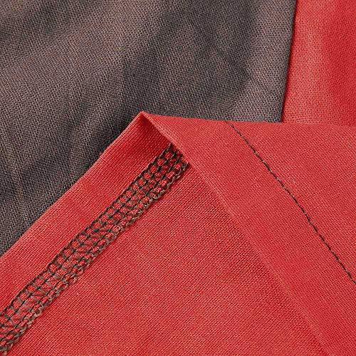 Felpa Tasca Camicie di ABCone T Camicette Patchwork Autunno Girocollo Maniche Elegante Casual Caff Vendita Lino Cotone Liquidazione Lunghe Shirt Tops Donna Pullover in wvHtqt7XY
