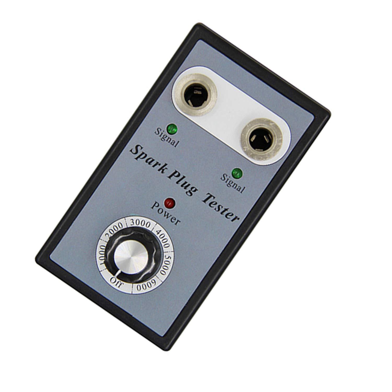 Yunt Probador de la buj/ía analizador Dual de la ignici/ón del Detector del probador de la buj/ía del Coche del Agujero buj/ías del veh/ículo de la Gasolina 12V