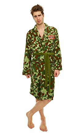 c1fba9ebe2866 Image Unavailable. Image not available for. Colour: Only Fools and Horses  Rodney Camo jacket Adult Mens Bathrobe ...