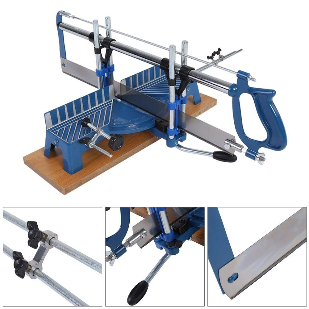 Mitre Saw, 22.5°, 30°, 36°, 45°, 90° Iron Manual Precision Mitre Hand Saw Angle Woodwork Carpentary Saw Hand Tool by Zerone