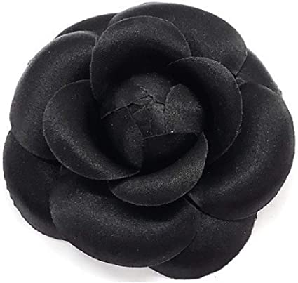 Hand-made in New Yorks Garment Center Silk Rose Fabric Flower Pin Brooch American Made