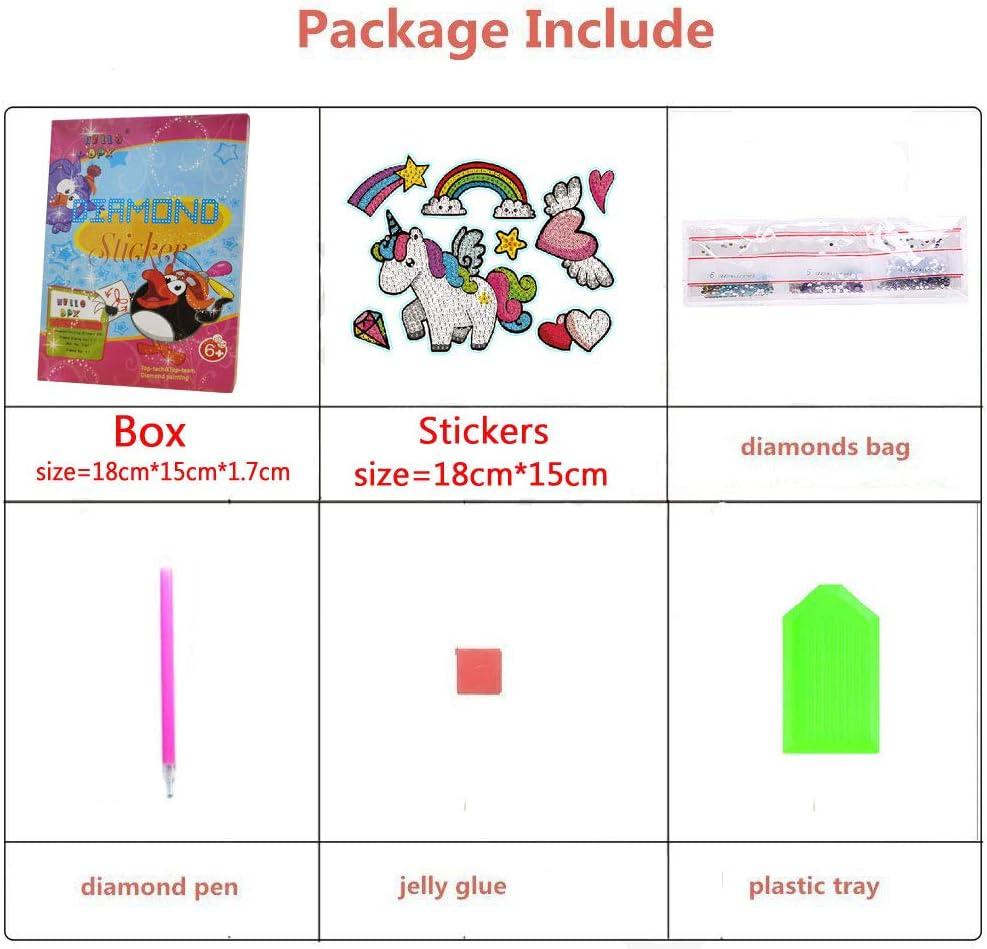 400 magic 5D DIY Diamond Painting Stickers Kits for Kids Easy Small Diamond Painting Kits Paint by Numbers to Having Fun at Party Alpaca-1