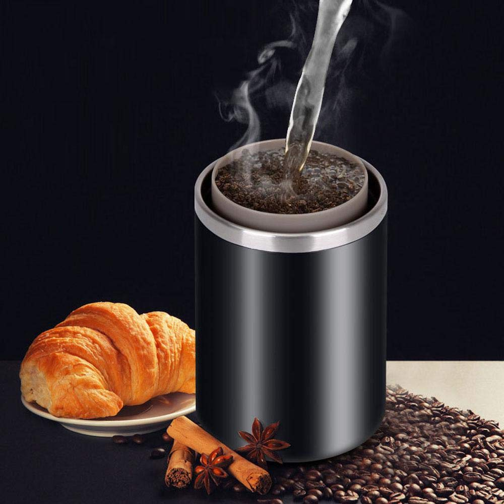 Layopo Electric Coffee Grinder USB Rechargeable Smart Coffee Bean Grinder- Multi-Function Stainless Steel Personal Coffee Grinder Coffee Cup with Filter for Office, Home, Travel, Camping by Layopo (Image #2)
